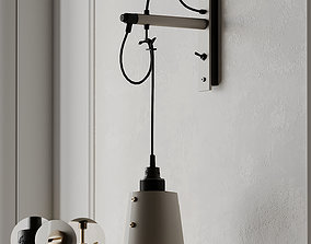 HOOKED wall light small stone from Buster and 3D model