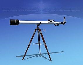 6 In Refractor Telescope 3D