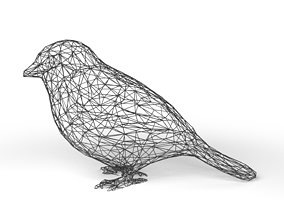 Sparrow Wireframe 3D model