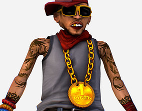 3D asset Rapper Bitter the Coolest Man - Renat