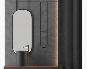 MODERN - Gray Bathroom - 06 3D model