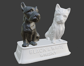 3D print model Black and White Scotch Whisky stand