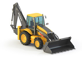 3D Backhoe Loader bulldozer
