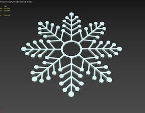 Snowflake Shape 3D Printing Model