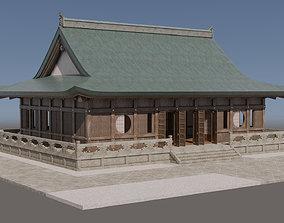 3D asset Japanese Modular Temple 3