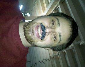 3D print model Tom Sellecks Mustache