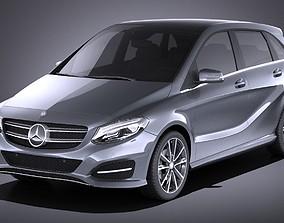 Mercedes-Benz B-Class 2016 VRAY 3D