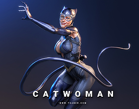 female Catwoman Statue - 3D print collectibles