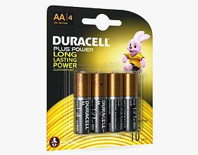 3D Duracell CopperTop AA Alkaline Batteries Package