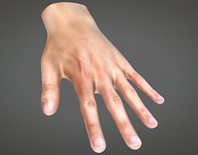 Human Hand 3D model animated