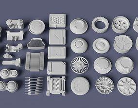3D model Scifi kitbash kit