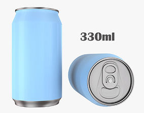 Beverage can 330ml 3D