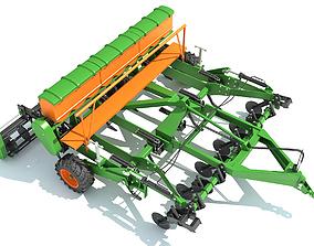 Seed Drill Disc Harrow 3D model