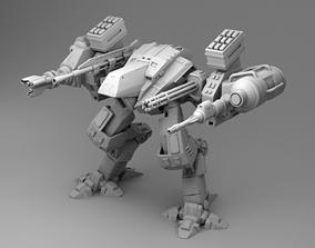 Robot - two guns 3D print model