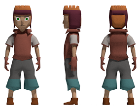 game ready boy character 3D model