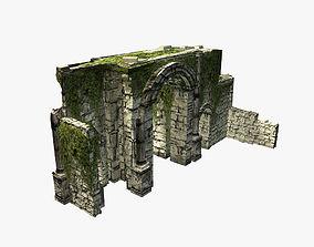 3D model Ancient jungle ruins gate