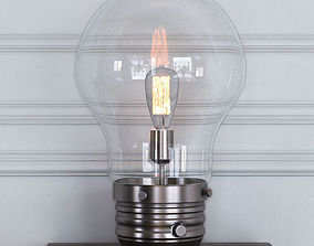 furniture Edison Table Lamp with Globe Shade 3D model