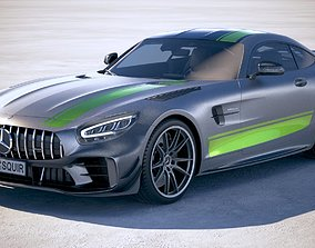 Mercedes AMG GT-R PRO 2020 VRAY 3D