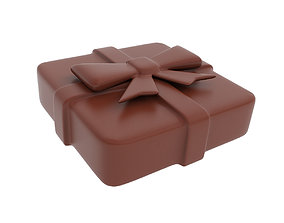 3D model Chocolate present figurine