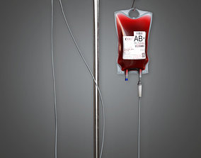 Medical IV Pole HPL - PBR Game Ready 3D asset