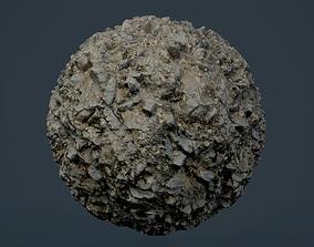 3D Rock Ground Seamless PBR Texture 01