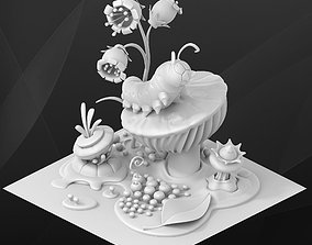 Fantasy game building - Caterpillar 3D