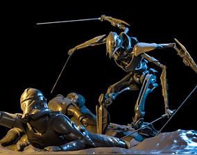 3D print model General Grievous Diorama STL