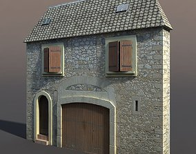 3D model Old Building Facade