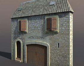 3D model Old Building Facade