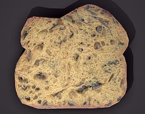 3D asset Slice of Bread