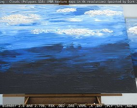 3D model Oil Painting - Clouds