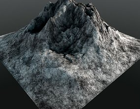 Rocky Mountain Range Peak Low Poly 3D Model realtime