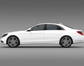 3D model Mercedes Benz S 500 Lang V222 2016