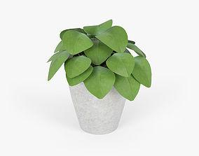 3D flowerbed Slant Light Grey Short Planter
