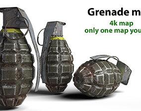 VR / AR ready Grenade army MK 2 3d model