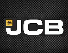 emblem 3D model jcb logo 2