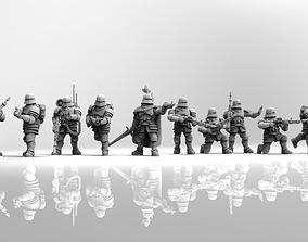 Feudal guard laser gun squad 3D printable model