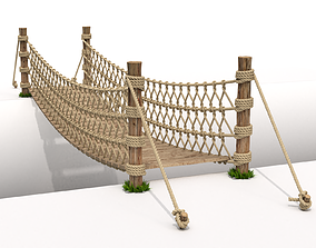 3D model Rope Suspension Bridge