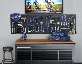 saw 3D model Garage tools set 7