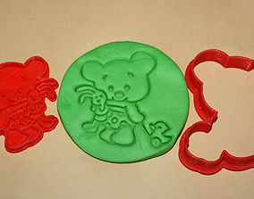 3D print model CUTE BEAR WITH TOYS - COOKIE CUTTER