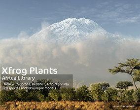 2020 XfrogPlants Africa Library 3D model plants