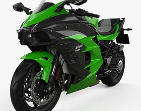 3D Kawasaki Ninja H2 SX 2018