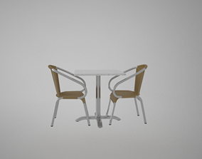 house Armchair and balcony desk furtine 3D model