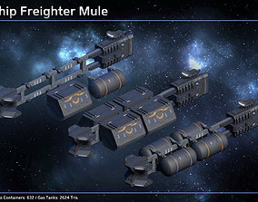 3D asset realtime Spaceship Freighter Mule