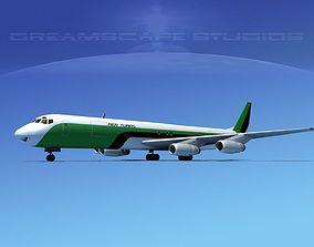 3D model Douglas DC-8-63F Aer Turas