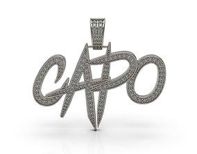 3D printable model Capo Pendant