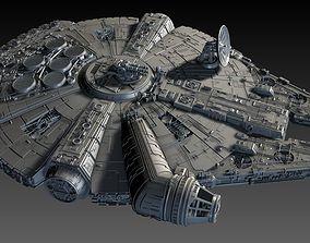 3D Star Wars Falcon Ship