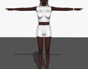Sexy Affrican Girl A14 3D model