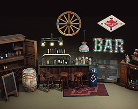 Game ready Furniture Props UE4 Realism Bar realtime 2