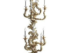 Candelabrum Sconce Light 2 3D model